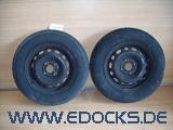 """2x 13"""" Zoll Sommer Reifen Kleber 155-80-R13 Felge Stahlfelge ET43 Corsa C Opel"""