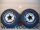 "2x 15"" Stahl Felge 6J M+S Winter Reifen 195/70/R15 Renault Master Movano Opel"